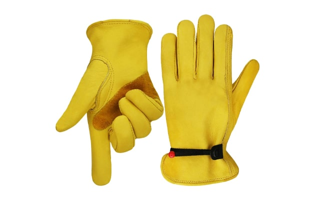 OLSON-DEEPAK-Work-gloves-Leather-Gardening-Glove